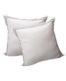 Rhythmic Melody Cotton Euro Sham Cover, Pack of 2