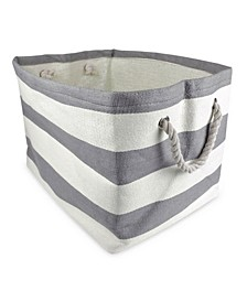 Paper Basket Stripe Rectangle Large