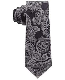 Men's Textured Paisley Slim Silk Tie