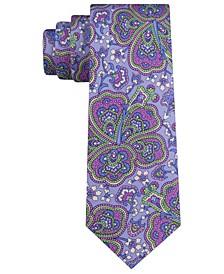 Men's Botanical Paisley Silk Slim Tie