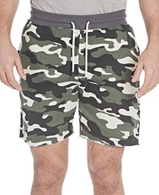 Men's Somerset Regular-Fit Camouflage French Terry Jogger Shorts
