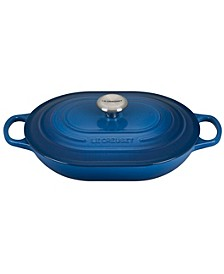 Enameled Cast Iron 3.75-Qt. Oval Casserole with Lid