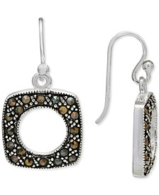 Marcasite Square Drop Earrings in Sterling Silver, Created for Macy's