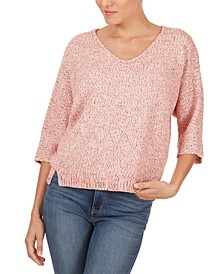 Marled-Knit Sweater