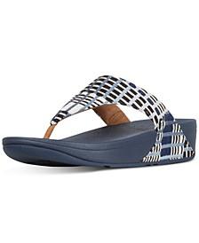 Lulu Leather Toepost Flip-Flop Sandals