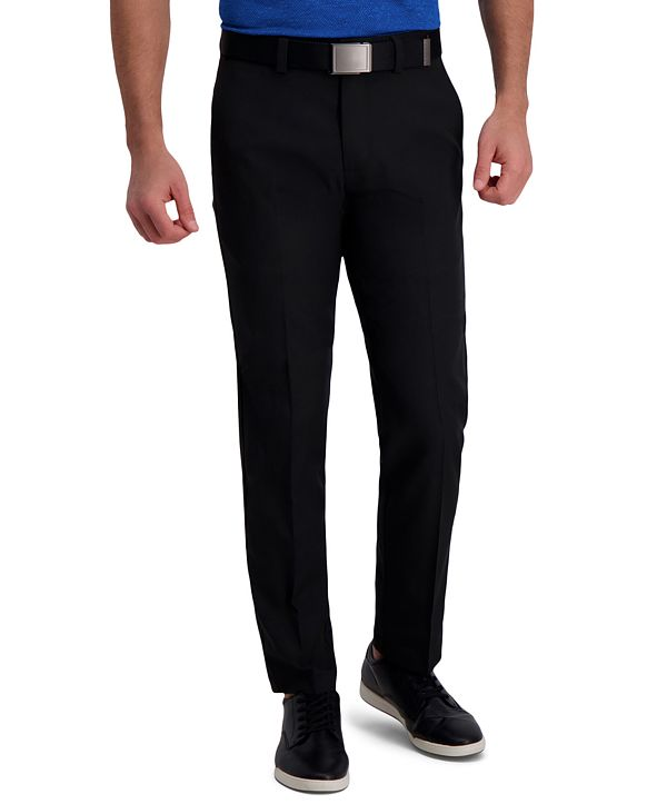 Haggar Cool Right Performance Flex Straight Fit Flat Front Pant