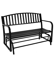 "Outdoor Garden Bench 50"" Metal Glider Patio Seat"