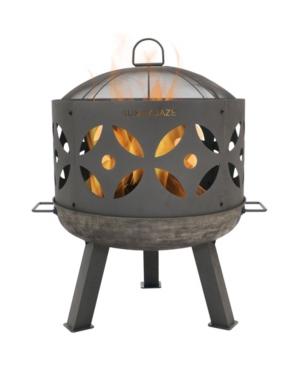 Sunnydaze Decor Outdoor Retro Cast Iron Patio Fireplace Fire Pit Bowl