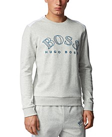 BOSS Men's Salbo Light Pastel Grey Sweatshirt