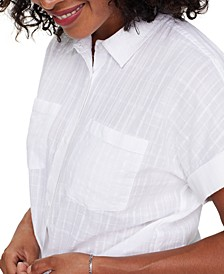 Linen Printed Camp Shirt