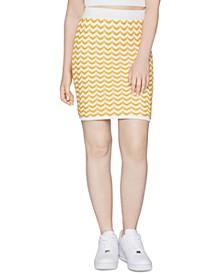 Sweater Knit Mini Skirt