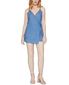 Chambray Overlay Romper