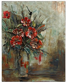 "Bouquet Mixed Media Iron Hand Painted Dimensional Wall Art, 40"" x 32"" x 2.5"""