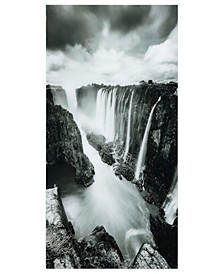 "The Falls Frameless Free Floating Tempered Art Glass Wall Art by EAD Art Coop, 72"" x 36"" x 0.2"""