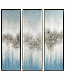 """Sequence Textured Metallic Hand Painted Wall Art Set by Martin Edwards, 60"""" x 20"""" x 1.5"""""""