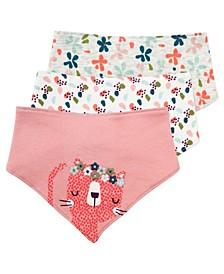 Baby Girl 3-Pack Bibs