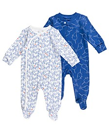 Baby Boy 2-Pack Sleepsuits
