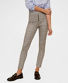 Zip-Pocket Slim-Fit Trousers