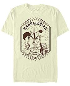 Star Wars The Mandalorian Geometric Bounty Hunter Short Sleeve Men's T-shirt