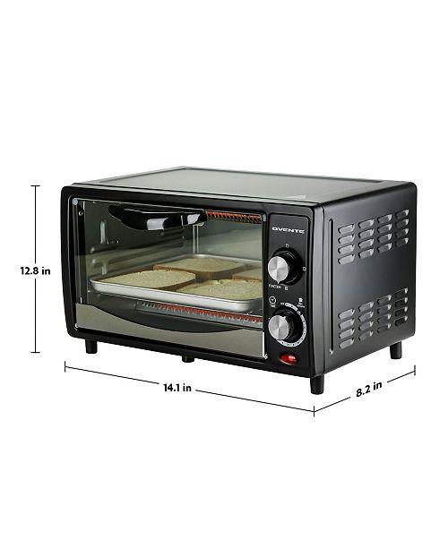Ovente Countertop 4 Slice Toaster Oven