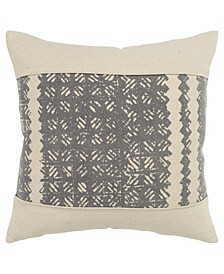 "Abstract Polyester Filled Decorative Pillow, 20"" x 20"""