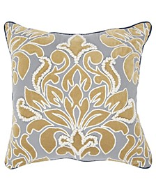 "Damask Decorative Pillow Cover, 20"" x 20"""