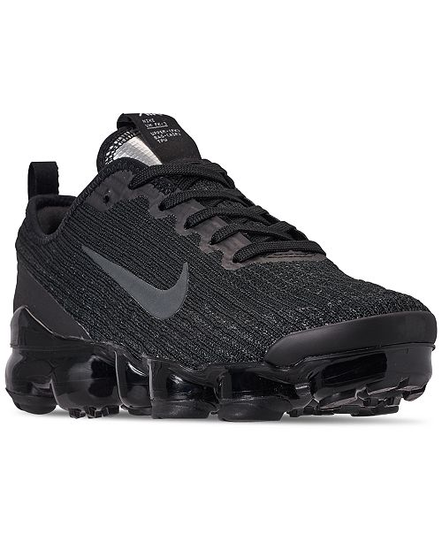 big kids' nike air vapormax flyknit 3 running shoes black