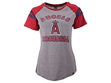 Women's Los Angeles Angels Fly Out Raglan T-shirt