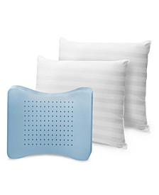 MemoryLOFT Classic Cotton Standard Bed Pillow with Memory Foam Core, 2-Pack