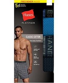 Men's 5-Pk. Platinum Woven Boxers