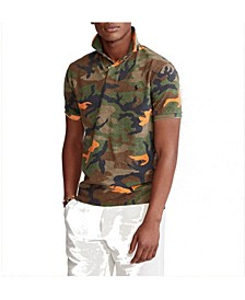폴로 랄프로렌 Polo Ralph Lauren Mens Classic Fit Camo Polo Shirt,Southern Orange Mtk Camo