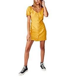 Woven Aurora Short Sleeve Mini Dress