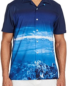 Men's Slim-Fit Performance Stretch Scuba Short Sleeve Camp Shirt