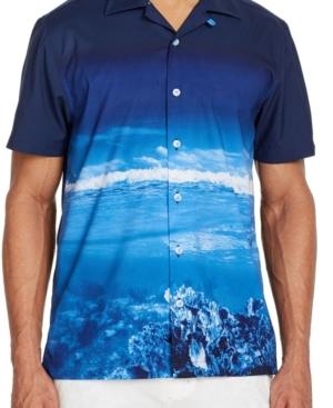 Men's Slim-Fit Performance Stretch Scuba Short Sleeve Camp Shirt