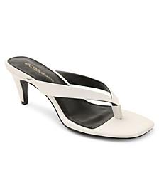 Tabina Kitten-Heel Toe Thong Sandals