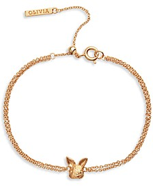 Bunny Chain Bracelet in Gold-Plated Brass