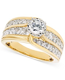 Diamond Channel-Set Engagement Ring (2 ct. t.w.) in 14k Gold