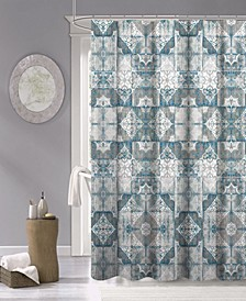 "Tiles Fabric Shower Curtain, 70"" x 72"""