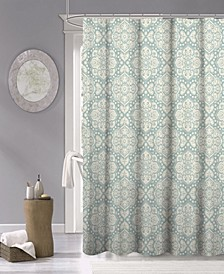"Medallion Fabric Shower Curtain, 70"" x 72"""
