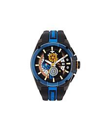 Men's Barracuda Bay Dual Time Sport Multi Silicone Strap Watch, 49mm