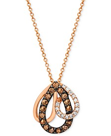 Chocolate by Petite Diamond (1/3 ct. t.w.) Pendant Necklace in 14k Rose Gold