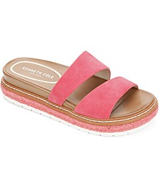 Women's Laney Jute-Trim Slide Sandals
