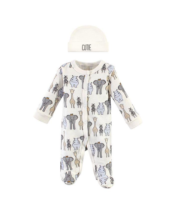 Hudson Baby - - Baby Boys and Girls Preemie Sleep and Play and Cap Set