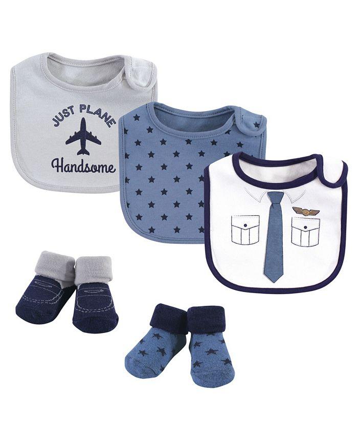 Little Treasure - Baby Boys and Girls Cotton Bib and Sock Set