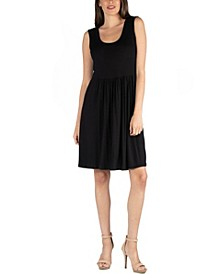 Slim Fit Sleeveless A-Line Flare Dress