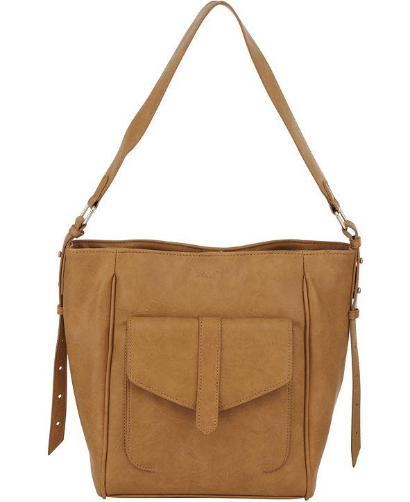 kensie Women's Boho Bucket Bag Fashion Tote Bag