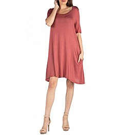 Soft Flare T-Shirt Dress with Pocket Detail