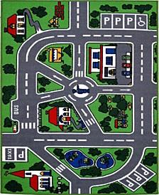 """Fun Time Streets 19"""" x 29"""" Area Rug"""