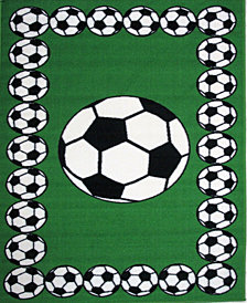 "Fun Rugs Fun Time Soccer Time 19"" x 29"" Area Rug"
