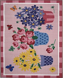 "Olive Kids Blossoms Butterflies 19"" x 29"" Area Rug"